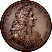 France, Medal, Victory at the Rhine, Louis XIV, History, 1674, SUP, Cuivre, 57