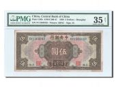 Chine, Central Bank, 5 Dollars 1928, PMG Ch VF 35, Pick 196b
