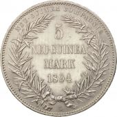 GERMAN NEW GUINEA, 5 Mark, 1894, Berlin, SUP, Argent, KM:7