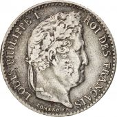 France, Louis-Philippe, 1/4 Franc, 1838, Lille, EF(40-45), Silver, KM:740.13