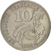 France, Jimenez, 10 Francs, 1986, Paris, TTB+, Nickel, KM:959