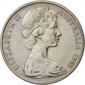 Australia, Elizabeth II, 20 Cents, 1969, EF(40-45), Copper-nickel, KM:66