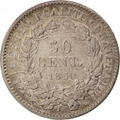 France, 50 Centimes, 1850, Paris, TTB+, Argent, KM:769.1, Gadoury:411