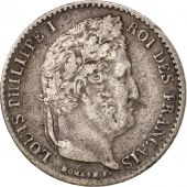 France, Louis-Philippe, 1/4 Franc, 1835, Paris, VF(30-35), Silver, KM:740.1