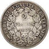 France, Cérès, 2 Francs, 1873, Paris, VF(30-35), Silver, KM:817.1