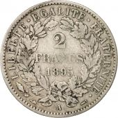France, Cérès, 2 Francs, 1895, Paris, VF(30-35), Silver, KM:817.1