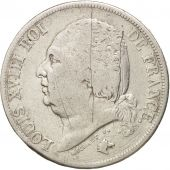 France, Louis XVIII, Louis XVIII, 2 Francs, 1822, Paris, VF(20-25), Silver