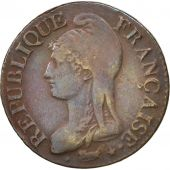 France, Dupré, 5 Centimes, 1796, Paris, TTB, Bronze, KM:635.1, Gadoury:126