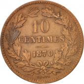 Luxembourg, William III, 10 Centimes, 1870, Utrecht, TTB, Bronze, KM:23.1