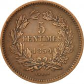Luxembourg, William III, 5 Centimes, 1854, Utrecht, TTB, Bronze, KM:22.1