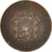 Luxembourg, William III, 2-1/2 Centimes, 1854, Utrecht, TB+, Bronze, KM:21