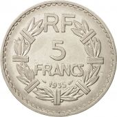 France, Lavrillier, 5 Francs, 1935, Paris, TTB+, Nickel, KM:888, Gadoury:336
