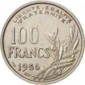 France, Cochet, 100 Francs, 1955, Beaumont - Le Roger, SUP, Copper-nickel