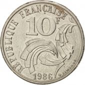 France, Jimenez, 10 Francs, 1986, TTB+, Nickel, KM:959, Gadoury:824