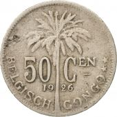 Congo belge, 50 Centimes, 1926, TB, Copper-nickel, KM:23