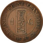 FRENCH INDO-CHINA, Cent, 1888, Paris, TB+, Bronze, KM:1, Lecompte:40