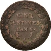 France, Dupré, 5 Centimes, 1796, Paris, TB+, Bronze, KM:640.1, Gadoury:126
