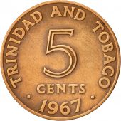TRINIDAD & TOBAGO, 5 Cents, 1867, Franklin Mint, EF(40-45), Bronze, KM:2