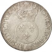 France, Louis XV, Écu Vertugadin, Ecu, 1716, Paris, AU(50-53), Silver
