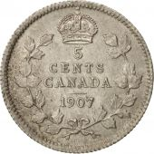 Canada, Edward VII, 5 Cents, 1907, Royal Canadian Mint, Ottawa, SUP, Argent