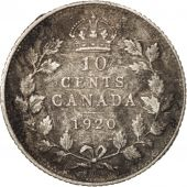 Canada, George V, 10 Cents, 1920, Royal Canadian Mint, Ottawa, TB, Argent