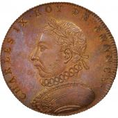 France, Medal, Charles IX, History, XIXth Century, MS(65-70), Copper, 33