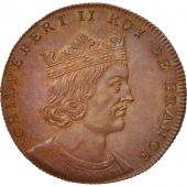 France, Medal, Childebert II, History, XIXth Century, MS(65-70), Copper, 33