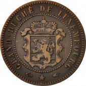Luxembourg, William III, 5 Centimes, 1855, Paris, TB+, Bronze, KM:22.2