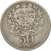 Portugal, 50 Centavos, 1929, TB, Copper-nickel, KM:577