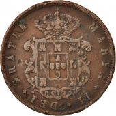 Portugal, Maria II, 20 Reis, 1849, VF(20-25), Copper, KM:482