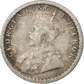 INDIA-BRITISH, George V, 1/4 Rupee, 1919, Bombay, VF(20-25), Silver, KM:518