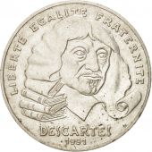 France, Descartes, 100 Francs, 1991, TTB+, Argent, KM:996, Gadoury:906