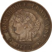 France, Cérès, Centime, 1885, Paris, TTB+, Bronze, KM:826.1, Gadoury:88