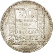 France, Turin, 20 Francs, 1934, Paris, SUP, Argent, KM:879, Gadoury:852