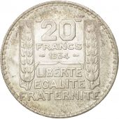 France, Turin, 20 Francs, 1934, Paris, MS(63), Silver, KM:879, Gadoury:852