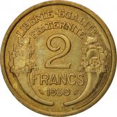 France, Morlon, 2 Francs, 1939, Paris, TTB+, Aluminum-Bronze, KM:886