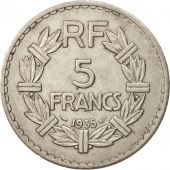 France, Lavrillier, 5 Francs, 1935, Paris, SUP, Nickel, KM:888, Gadoury:760