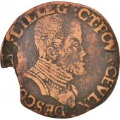 France, Token, Royal, Flandre espagnole, Philippe II, Lille, 1570, TB+, Cuivre