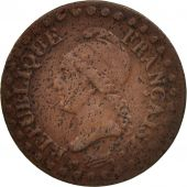 France, Dupré, Centime, 1797, Paris, VF(30-35), Bronze, KM:646, Gadoury:76