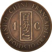 FRENCH INDO-CHINA, Cent, 1887, Paris, TB, Bronze, KM:1, Lecompte:39
