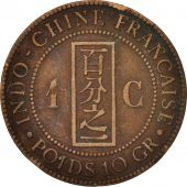 FRENCH INDO-CHINA, Cent, 1888, Paris, VF(30-35), Bronze, KM:1, Lecompte:40