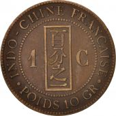 FRENCH INDO-CHINA, Cent, 1889, Paris, VF(30-35), Bronze, KM:1, Lecompte:41