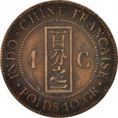 FRENCH INDO-CHINA, Cent, 1892, Paris, VF(30-35), Bronze, KM:1, Lecompte:43