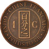 FRENCH INDO-CHINA, Cent, 1892, Paris, EF(40-45), Bronze, KM:1, Lecompte:43