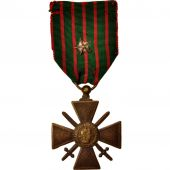 France, Croix de Guerre de 1914-1918, Medal, 1918, Excellent Quality, Bronze, 37