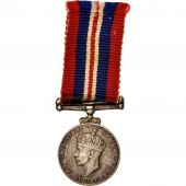 United Kingdom , War Medal, Miniature, Medal, 1945, Excellent Quality, Argent