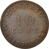FRENCH STATES, ANTWERP, 10 Centimes, 1814, Antwerp, EF(40-45), Bronze