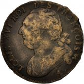 France, 12 deniers françois, 12 Deniers, 1792, Paris, TB+, Bronze, KM:600.1