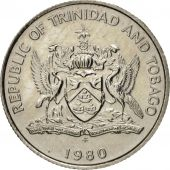 TRINIDAD & TOBAGO, 10 Cents, 1980, AU(55-58), Copper-nickel, KM:31