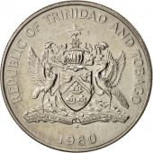TRINIDAD & TOBAGO, 25 Cents, 1980, AU(50-53), Copper-nickel, KM:32